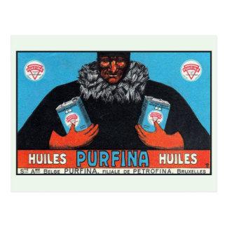 Vintage Belgian automobile motor oil ad Postcard