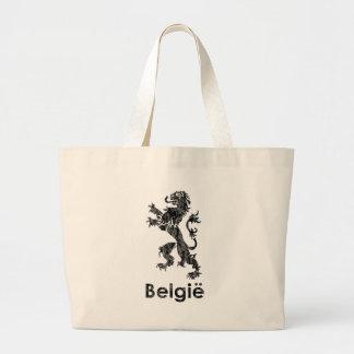 Vintage Bélgica Bolsa Tela Grande