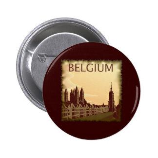 Vintage Bélgica Pin Redondo De 2 Pulgadas