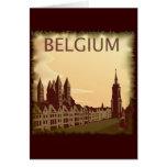 Vintage Bélgica Tarjetón