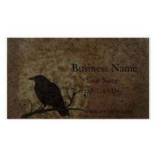 Vintage Believe Crow Business Card