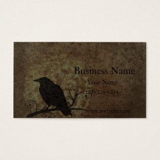 Vintage Believe Crow Business Card