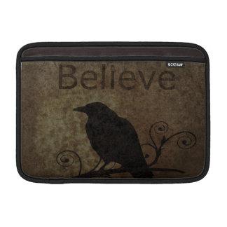 Vintage Believe Crow Sleeves For MacBook Air
