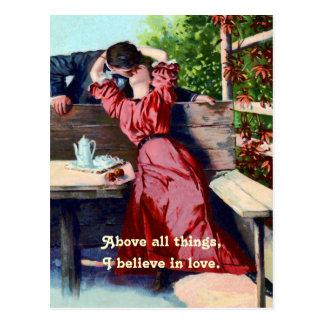 Vintage Believe in Love Postcard