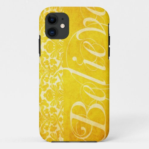 Vintage Believe Yellow Damask Case iPhone 5 Cover Phone Case