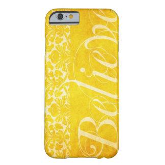 Vintage Believe Yellow Damask Case iPhone 6 case