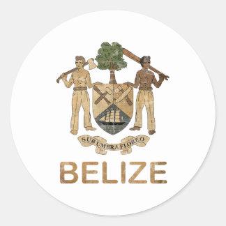 Vintage Belize Classic Round Sticker