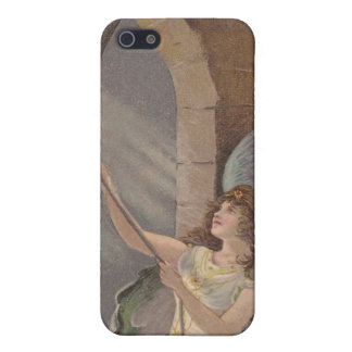 Vintage Bell Tower Angel Ringing Bells iPhone 4 Cover For iPhone SE/5/5s