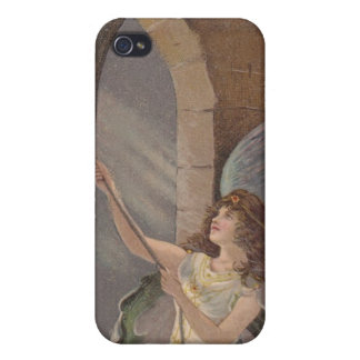 Vintage Bell Tower Angel Ringing Bells iPhone 4 iPhone 4/4S Case