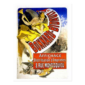 Vintage Belle epoque French poster printers Cheret Postcard