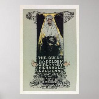 Vintage belle époque Golden Girl book ad Posters