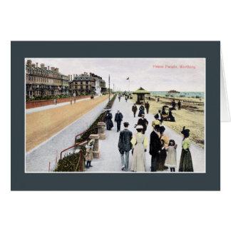 Vintage belle epoque Heene Parade Worthing Card