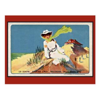 Vintage belle epoque Knokke Zoute Golf Postcard