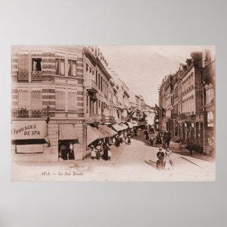 Vintage belle époque Spa Belgium Poster