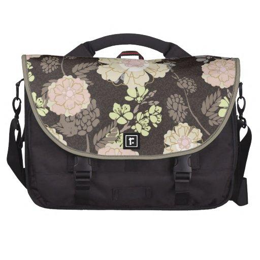 Vintage Belsay Floral Pattern Laptop Commuter Bag