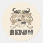 Vintage Benin Etiqueta Redonda