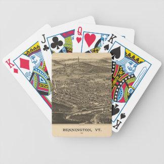 Vintage Bennington, Vermont Map Bicycle Playing Cards