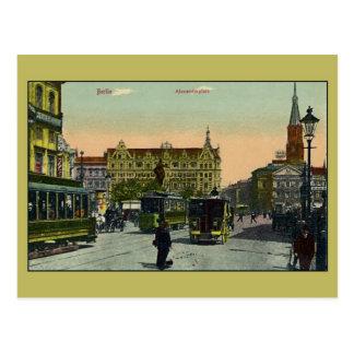 Vintage Berlín Alexanderplatz Postal