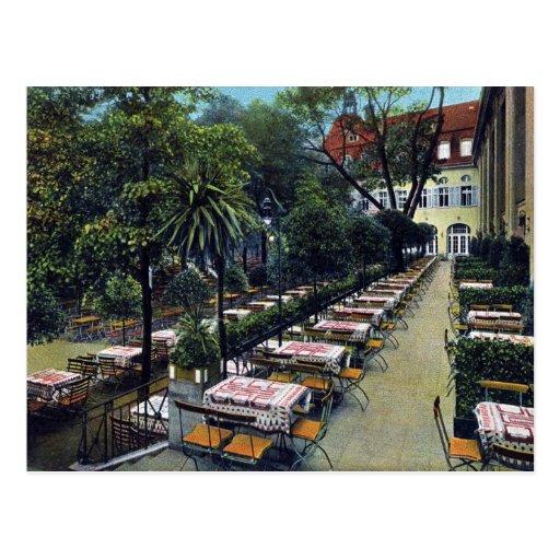 Vintage Berlin cafe brewery Happoldts Hasenheide Postcard