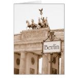 Vintage Berlin design Greeting Cards