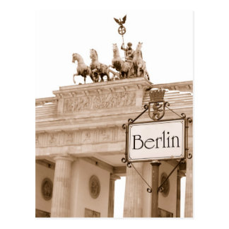 Vintage Berlin design Postcard