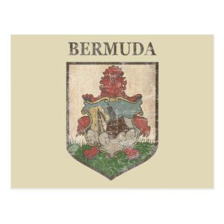 Vintage Bermuda Coat Of Arms Postcards