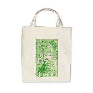 Vintage Bermuda Postage Stamp Bag