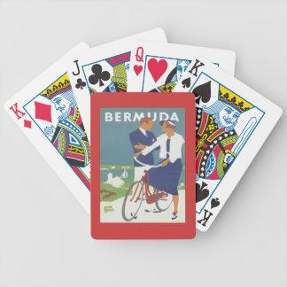 Vintage Bermudas Cartas De Juego