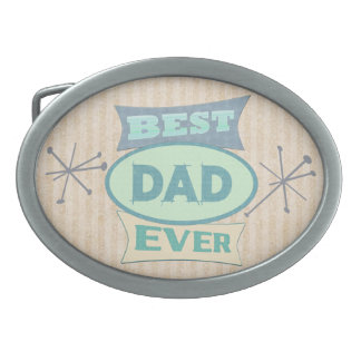 Vintage Best Dad Father's Day Belt Buckle
