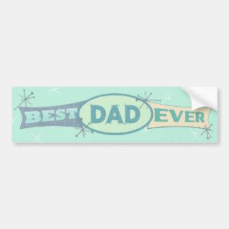 Vintage Best Dad Father's Day Bumper Sticker Car Bumper Sticker