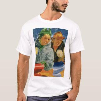 Vintage Best Friends; Elegant and Stylish Women! T-Shirt