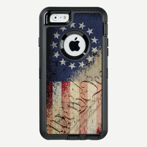 Vintage Betsy Ross American Flag OtterBox Defender iPhone Case