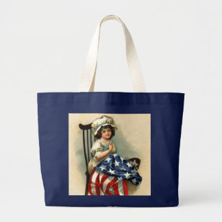 Vintage Betsy Ross Kid (multiple products) Large Tote Bag