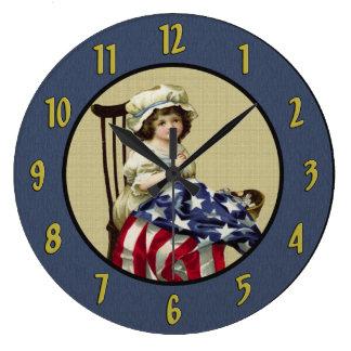 Vintage Betsy Ross Wall Clock
