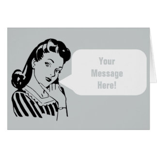 Vintage Betty - (Your Message) Speech Bubble Card