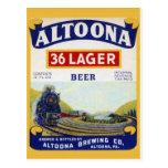 Vintage Beverage Label Postcard