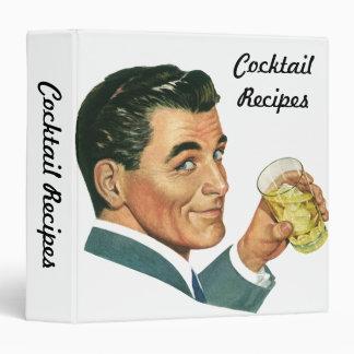 Vintage Beverages, Drinks, Cocktail Recipes Vinyl Binders