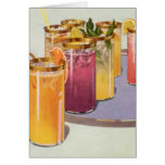Vintage Beverages, Drinks with Ice Cubes on a Tray Card