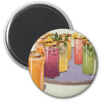 Vintage Beverages, Drinks with Ice Cubes on a Tray Magnet