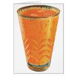Vintage Beverages, Glass of Orange Juice Breakfast Greeting Card