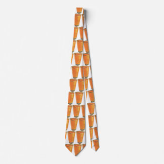 Vintage Beverages, Glass of Orange Juice Breakfast Neck Tie