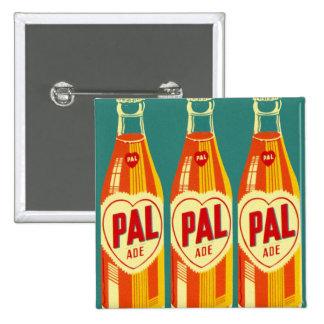 Vintage Beverages Pal Soda Bottle Button