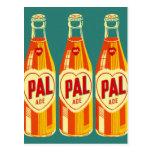 Vintage Beverages Pal Soda Bottle Post Cards