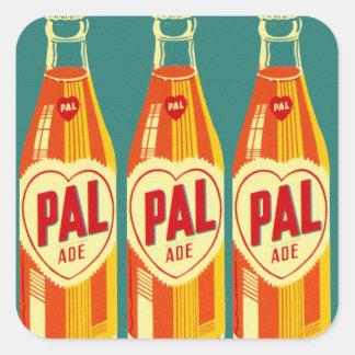 Vintage Beverages Pal Soda Bottle Square Sticker
