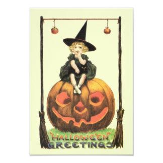 Vintage Bewitching Halloween Invitación 8,9 X 12,7 Cm