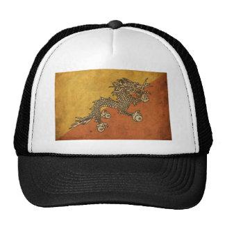 Vintage Bhutan Flag Trucker Hat