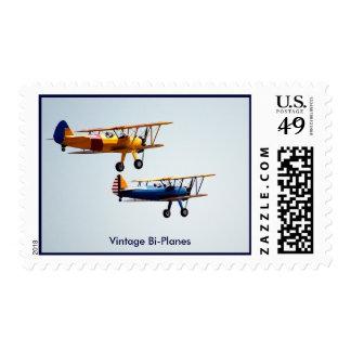 Vintage Bi-Planes Postage Stamp