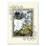 Vintage Bible Scripture With Roses Photo Print