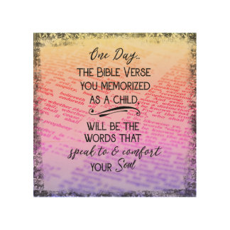 vintage bible verse memory quote wood wall art