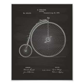 Vintage Bicycle 1883 Patent Art - Chalkboard Poster